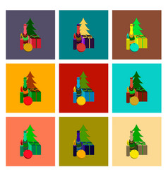Assembly flat christmas gift vector