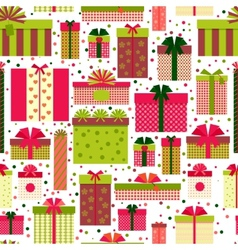 Attractive Gift Boxes Pattern on White Background vector image