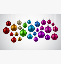 Background with colorful christmas balls vector