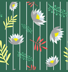 beautiful floral seamless pattern isolated vector image