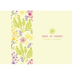 Blossoming trees horizontal frame seamless pattern vector