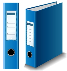 Blue binder vector