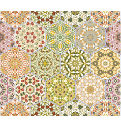 Bright seamless pattern tiles vector