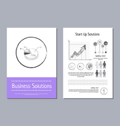 business solution and start up vector image
