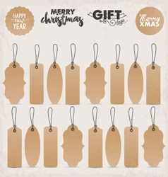 Calligraphic Gift Tags in Vintage Style vector