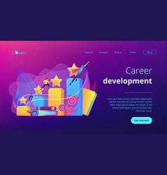 Career development concept landing page vector