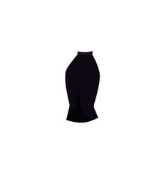 Cartoon black slim fit midi pencil skirt vector