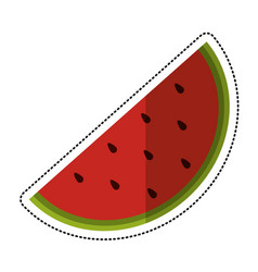 cartoon watermelon juicy fruit icon vector image