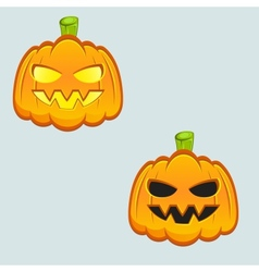 Carved pumpkins vector image