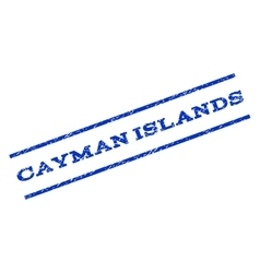 Cayman Islands Watermark Stamp vector