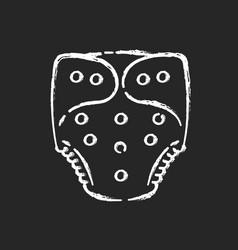 Cloth diaper chalk white icon on black background vector