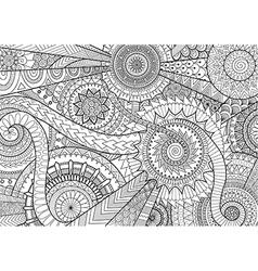 Complex mandala movement design for adult coloring vector