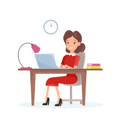 concept business woman vector image