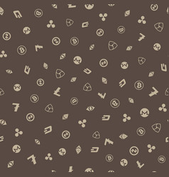 cryptocurrency seamless pattern background vector image