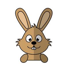 Cute rabbit character icon vector