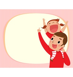 daddy and girl vector image