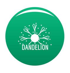 Dandelion logo icon green vector