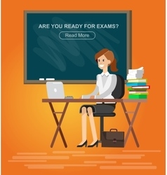 Detailed character woman teacher vector