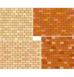 Different color brick textures collection vector
