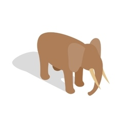 Elephant icon in isometric 3d style vector image