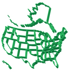 Extruded map of USA vector