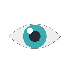 eye icon surveillance system emblem vector image