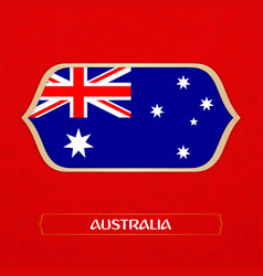 flag of australia is made in football style vector image
