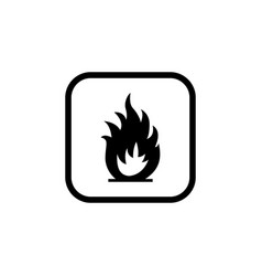 Flammable symbol for package signs vector