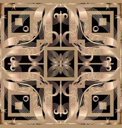 Floral abstrat arabesque seamless pattern vector