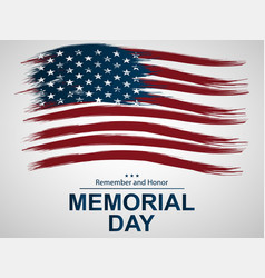 For memorial day with us flag vector