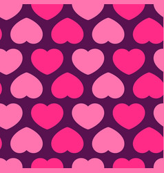 fun seamless vintage love heart background vector image