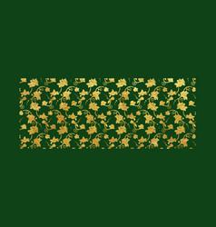 Gold foil ornamental background vector
