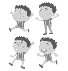 Happy boys vector image