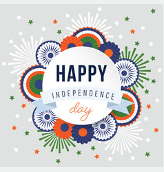 happy independence day 15th august national vector image