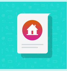 Home house message notice icon residential vector
