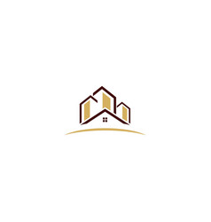 home realty building business logo vector image