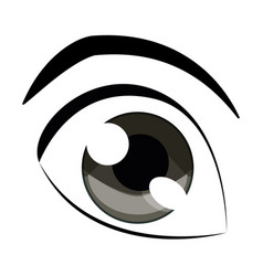 Human eye icon vector