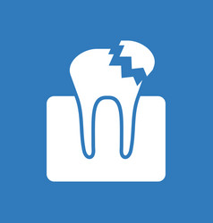 Icon broken tooth vector