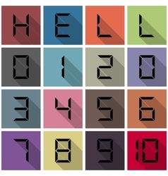 Icons numbers vector