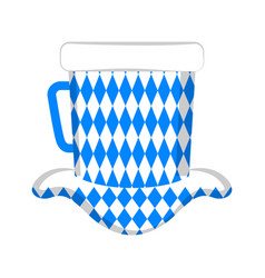 isolated traditional oktoberfest hat vector image