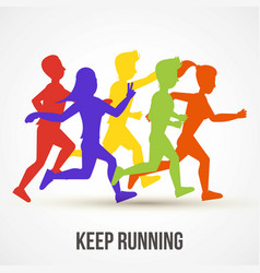 keep running world health day vector image