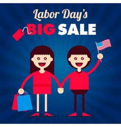Labor Day Couple vector image