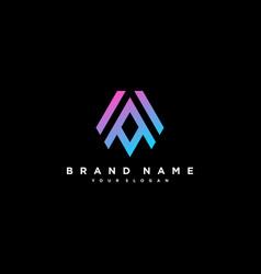 Letter aa logo design vector