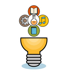 Light bulb and objects design vector