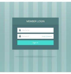 Login box form ui interface element signin screen vector