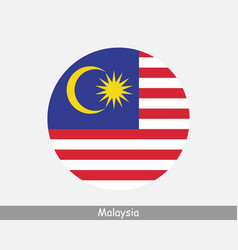 Malaysia round circle flag vector