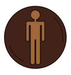 male human figure silhouette vector image