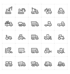 Mini icon set - construction machine icon vector