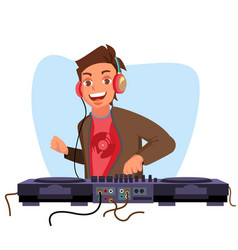 modern dj playing progressive electro vector image
