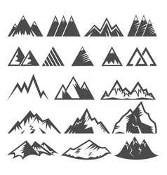 Mountain logo mounting logotype peak of vector